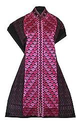 Phulkari Craft Women's Cotton Unstitched Kurti (PC0027_Black_Free Size)