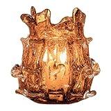 6 H Amber Decorative Votive Candle Holder