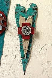 Layers of Friendship Corazon Lodge Metal Art Heart - Rustic Decor