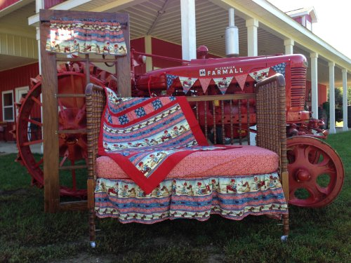 Farmall Tractor Bed Set : Farmall ih little farmer crib bedding nursery set baby shop