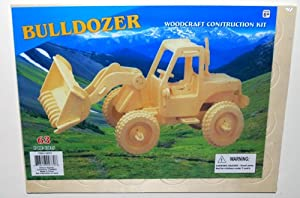 Puzzled - 3D Natural Wood Puzzles - BULLDOZER (63 Pieces)