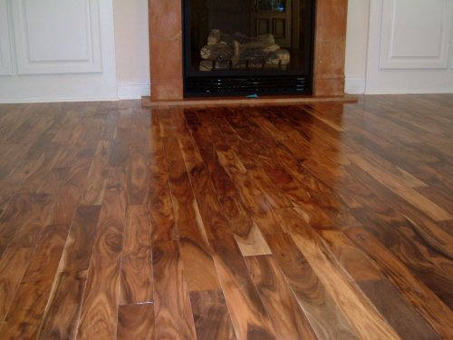 Asian walnut acacia solid prefinished hardwood wood floor for Real wood flooring