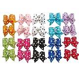 20 pcs New Lovely Dog Cat Puppy Hair Bow Ribbon Headdress Hair Accessory