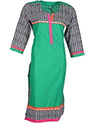 Elegant Blended Women Kurta (tf2617-18-yse-the, Green, Free Size)