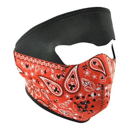 ZANheadgear Paisley Neoprene Face Mask Bandanna (Red) Picture