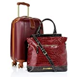Samantha Brown 2-piece Hardside Luggage Set - BURGUNDY