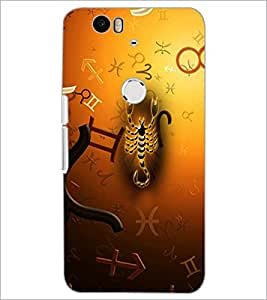 PrintDhaba Scorpio D-4276 Back Case Cover for HUAWEI NEXUS 6P (Multi-Coloured)