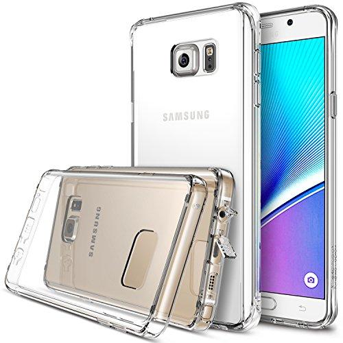 Galaxy Note 5 Custodia , Ringke FUSION [Crystal View] *** Tutto Nuovo Polvere Berretto & Attivo Toccare Tecnologia*** [Gratuito HD Pellicola Protezione Dello Schermo Incluso] Cristallo Chiaro Assorbimento urti TPU Goccia Protezione Premio Chiaro Forte Indietro [Antistatico][Resistente Ai Graffi] per Samsung Galaxy Note 5 - Eco/DIY Pacchetto