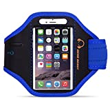 Gear Beast Nylon/Neoprene Sports Armband with Key Holder for Smartphones - Blue