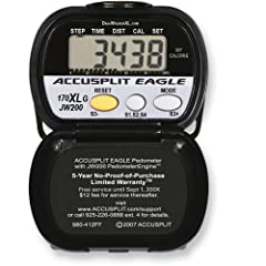 Buy ACCUSPLIT AE170XLG Pedometer with Steps, Distance, Goal Setting, and Calories Burned by ACCUSPLIT