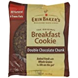 Erin Baker's Breakfast Cookies, Double Chocolate Chunk, 3-Ounce Individually Wrapped Cookies (Pack of 12) ~ Erin Baker's