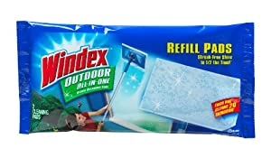 Windex Outdoor All-In-One Pads Refills, 2 count  (Pack of 9)