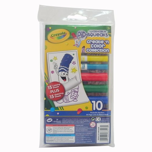 Crayola Washable Pip Squeaks Markers Create 'N Color Collection