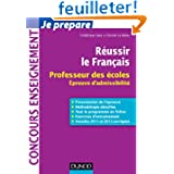 Réussir le Français - Professeur des écoles, épreuve d'admissibilité