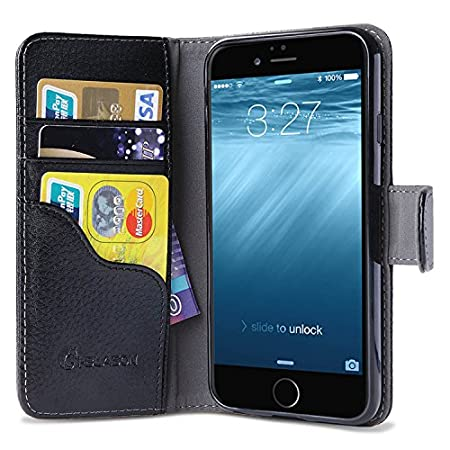 Apple iPhone 6 4.7 Hybrid Slim Book Wallet Case with Stand from i-Blason (TM)<br /> This case is ONLY for the Apple iPhone 6 4.7 Inch 2014 Release. It will NOT fit iPhone 6 5.5 inch or any other iPhone products.<br /> I-Blason Premium Slim Book Leath...