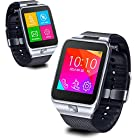 Indigi® SWAP2 GSM Wireless Bluetooth Watch Phone MP3 Spy Camera [aT&T / T-Mobile] Unlocked! (Silver)