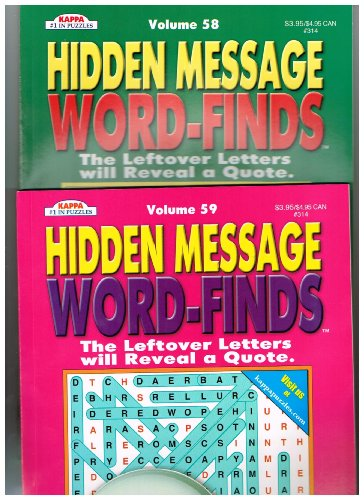 Hidden Message Word-Finds Set of 2 (See Seller Comments for Volumes) by Kappa