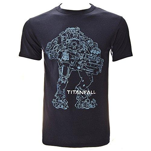 Titanfall -  T-shirt - Uomo, blu, medium