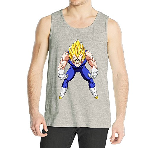 Men's Majin Vegeta Tank Top Ash (How To Make A Holster compare prices)