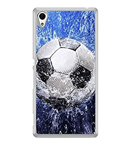 Football in Water 2D Hard Polycarbonate Designer Back Case Cover for Sony Xperia Z4