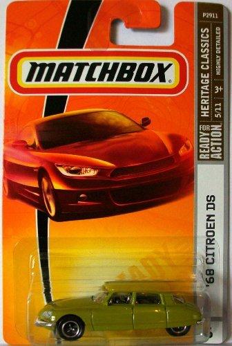 Matchbox 2009 '68 Citroen DS (Light Green) # 6, Heritage Classics, 1:64 Scale. - 1