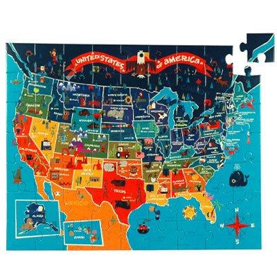 Cheap Galison Mudpuppy USA 63 Piece Puzzle (735320632)