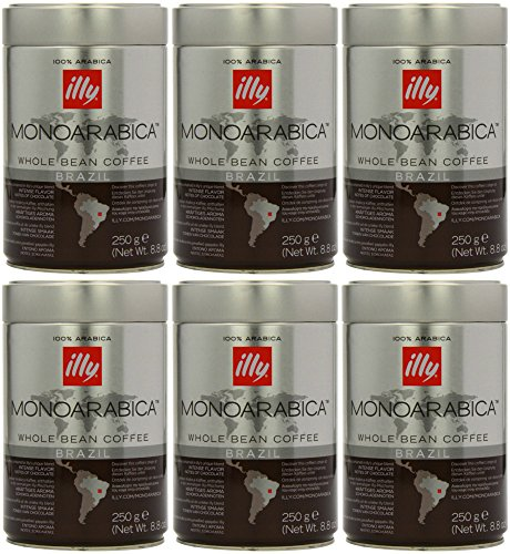 Illy Monoarabica Whole Bean, Single Origin Brazil Coffee Beans 8.8 Ounce (Pack of 6) (Illy Expresso Whole Bean Coffee compare prices)