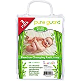 Swaddlez Changing Pad Liners [3 Pack] - Non-Slip - 25.5