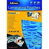 Fellowes 5308703 Pack de 100 - Pochettes de Plastification à Chaud A4 175 Microns Brillantes