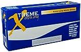 Ammex XNPFL Xtreme Extra Long Blue Nitrile Glove, Medical Exam, Latex Free, Disposable, Powder Free, Medium (Box of 100)