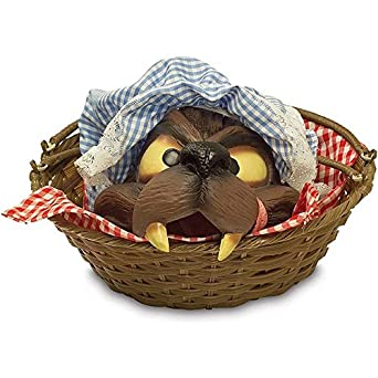 Basket with Wolfhead Costume Accessory