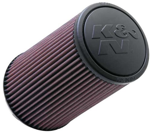 "K&N RE-0870 High Performance Universal Clamp-on Air Filter 4"" Flange 9"" Height"
