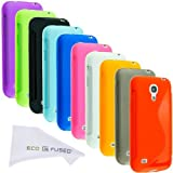 ECO-FUSED 11 Pieces Soft TPU Flex Rubber Cover Case Skin Bundle For Samsung Galaxy S4 Mini I9195 / 10 TPU Cover...