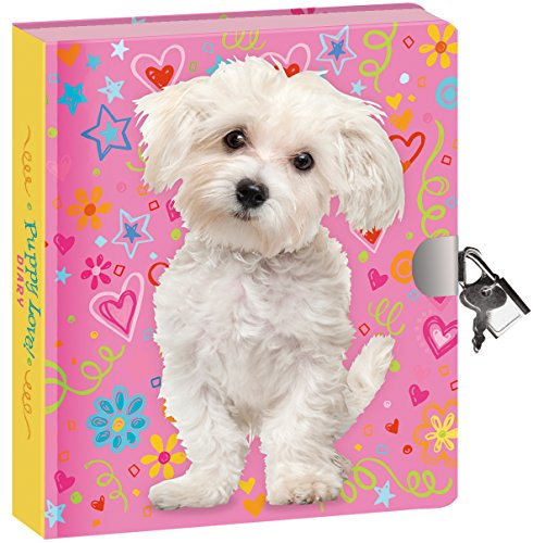 Peaceable Kingdom / New!! Doodle Dog Lock & Key Diary front-703473