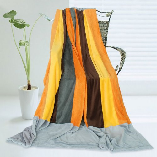 Onitiva - [New Hope] Soft Coral Fleece Patchwork Throw Blanket (59 By 78.7 Inches) front-912462