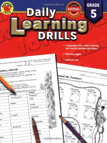 Daily Learning Drills Grade 5 (Math Drill Express compare prices)