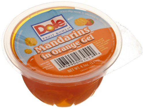 Dole Mandarin in Orange Gel 4 3 Ounce Cups Pack of 36