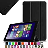 Fintie Dell Venue 8 Pro (Windows 8.1) Slim Shell Case - Ultra Slim Lightweight Stand Cover (Only Fit DELL Venue 8 Pro Windows 8.1 tablet) - Black