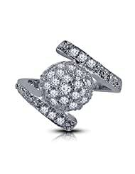 2BSTEEL New Hot Fashion White Platinum Plated Alloy Fashion Ring