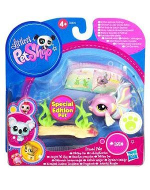 Buy Low Price Hasbro Littlest Pet Shop Prized Pet Pairs Series 1 Figure Guppy Fish Special Edition Pet (B004MU8S4E)