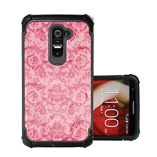 Corpcase Lg G2 Case - Vintage Pink Damask/ Hybrid Unique Case With Great Protection