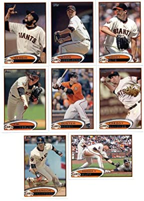2012 Topps San Francisco Giants Update Series Team Set -14 Cards-Includes Scutaro, Lopez, Cabrera, Hensley, Casilla, Posey, Theriot, Affeldt, Pence, Pagan, Sandoval, and Cain