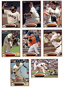 2012 Topps San Francisco Giants MLB Team Set (Series 1 & 2) 18 Cards - Includes... by 2012 Topps