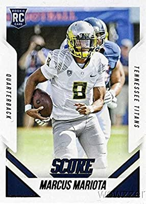 Marcus Mariota 2015 Score #368 ROOKIE Card in MINT Condition! Shipped in Ultra Pro Snap Card Holder to Protect It! Awesome Rookie card of Tennessee Titans #1 NFL Draft Pick Future Superstar !