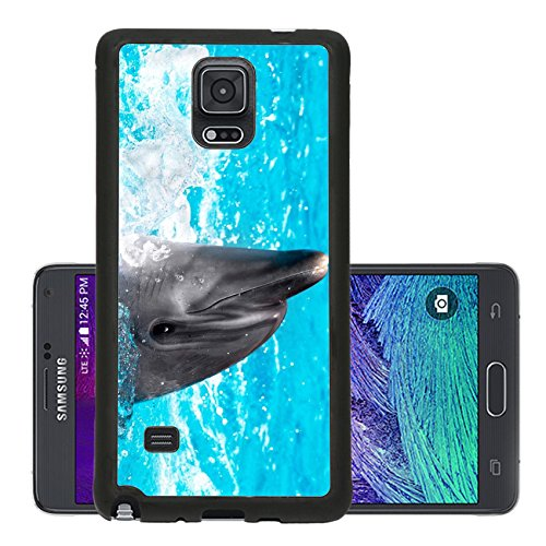 liili-premium-samsung-galaxy-note-4-aluminum-backplate-bumper-snap-case-glad-beautiful-dolphin-in-bl