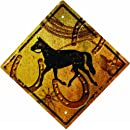 River's Edge 1490 Horse Crossing Tin Sign