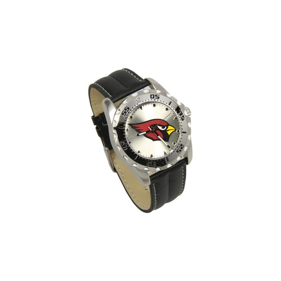 NFL Arizona Cardinals Game Time Leather Watch   Black