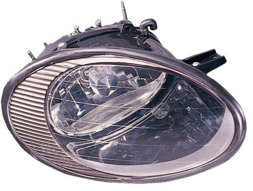 FORD TAURUS HEADLIGHT ASSEMBLY RIGHT (PASSENGER SIDE)(BLK BEZEL) 1998-1999 (1999 Taurus Headlight Assembly compare prices)
