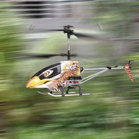 Eagle Gyro Metal Helicopter RC Electric Gyroscope Radio Remote Control 3CH Aviation Li-Po Heli with Flash LED