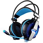 NiceEshop TM Gaming Headset 7.1 Channel USB Surround Stereo PC Gaming Headset Headphones With Mic Enhanced Bass... - B01HNKEHGW